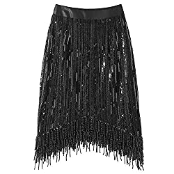 Skirt With Sequin Beading And Tassels