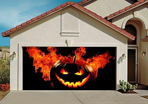 Halloween Decor for Garage Door Outdoor Decorations of House Pumpkin Billboard 1 (Halloween Outside)