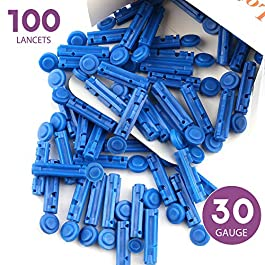LotFancy Lancets, 30G, 100 Twist Lancets for Diabetic Blood Testing, Disposable