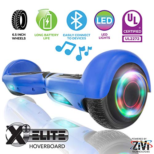 ZIVI Hoverboards with Bluetooth Speaker and LED Lights (Blue, 6.5)