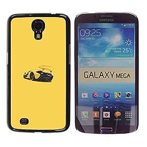 Be Good Phone Accessory // Dura Cáscara cubierta Protectora Caso Carcasa Funda de Protección para Samsung Galaxy Mega 6.3 I9200 SGH-i527 // Sports Car Racing Yellow