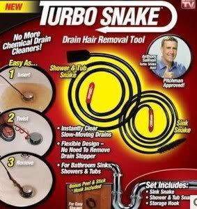 (Turbo Snake Flexible Stick Drain Opener - As Seen On TV)