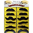 CK Pack of 12 Self Adhesive Assorted BLACK Moustaches. Tashes Multipack
