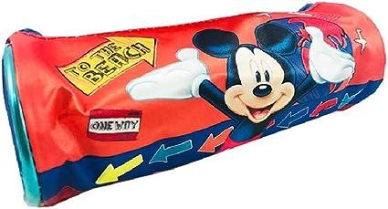 Estuche escolar con cremallera Mickey Mouse: Amazon.es: Oficina y papelería