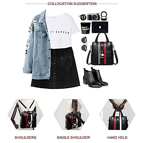Fashion Grey Shoulder for girls Handbag Purse Women Backpack Red School Rucksack and Bag qHwSZ