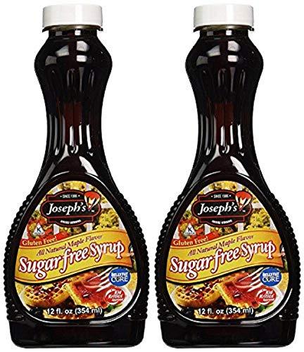 (Joseph's Sugar Free Syrup, Maple Flavor, 12 Fl. Oz. (Pack of 2))