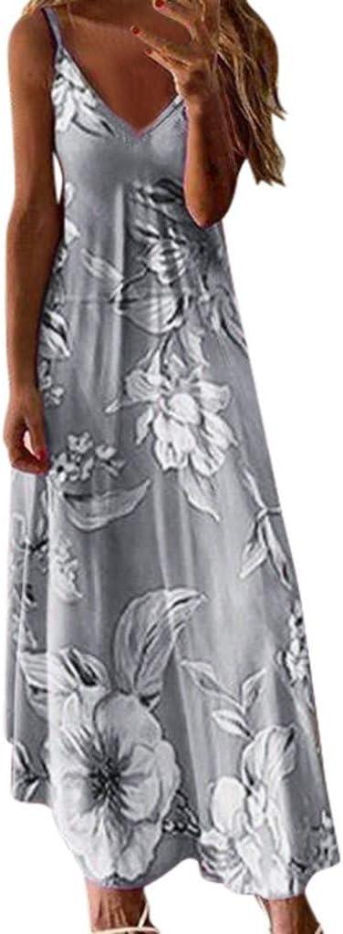 SUNNSEAN Vestidos Elegante Mujeres Sexy Faldas Largas V-Cuello ...