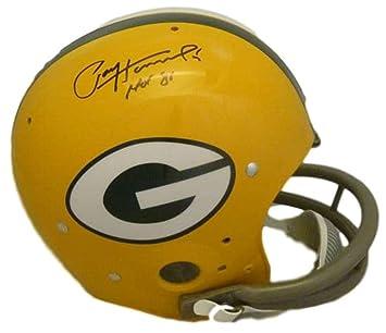 dd62de78d88 Amazon.com  Paul Hornung Autographed Signed Green Bay Packers TK Helmet HOF  JSA  Sports Collectibles