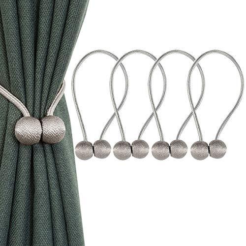 IHClink Alzapanos de Cortinas magneticos, Tejidos, para el hogar, Oficina, decoracion, 4 Unidades