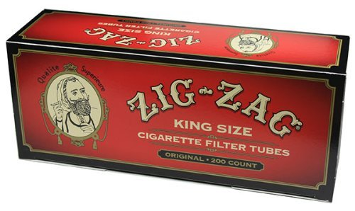 Cigarette Filter Tubes - Zig Zag Cigarette Tubes Full Flavor King Size - 200ct Box