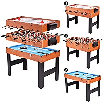 d157f8d8dedcd Tablede baby-foot Multi Jeux billard Air Hockey 3 en 1 Bois jouet ...
