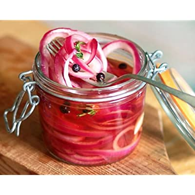 200 Organic Non-GMO Ruby Red Onion Seeds Burgundy : Garden & Outdoor