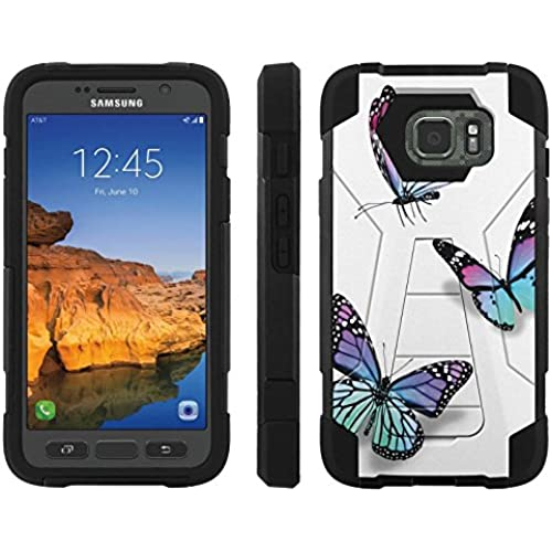 AT&T [Galaxy S7 Active] ShockProof Case [ArmorXtreme] [Black/Black] Hybrid Defender [Kickstand] - [Butterflies] for Samsung Galaxy [S7 Active] Sales