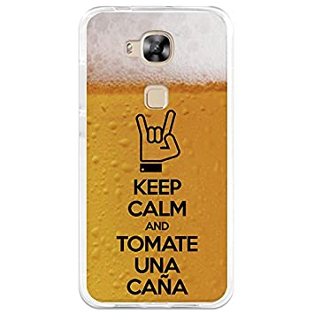 Funda Gel Flexible Huawei G8 BeCool Keep Calm Caña Carcasa Case Silicona TPU Suave