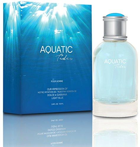 NEW Aquatic Tides Eau De Toilette Spray for Men, 3.4 Ounce 100 Ml - Scent Similar to Light ()