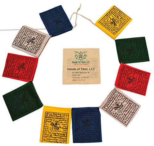 Mini Wind Horse Tibetan Prayer Flags From Nepal Set of 10 - Make Flags Prayer Tibetan