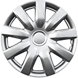 hubcaps toyota camry 15 - Hubcaps for Toyota Single Wheel Covers - 15 inch, Snap On, Silver