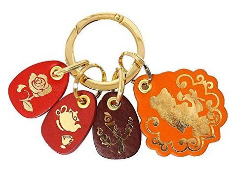 Disney Fantastic Leather Collection Belle Key Ring bag Accessory Japan F/S (Disney Channel Com Halloween)