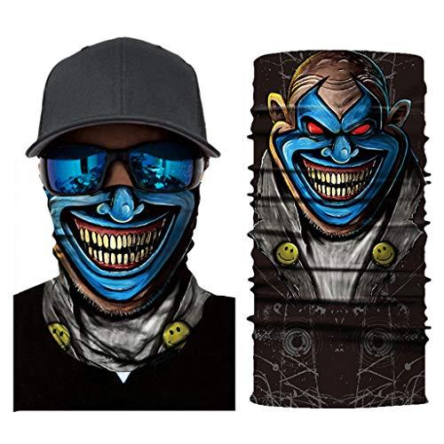 Vovomay Cycling Motorcycle Head Scarf Neck Warmer Face Mask Ski Balaclava Headband (E) ()