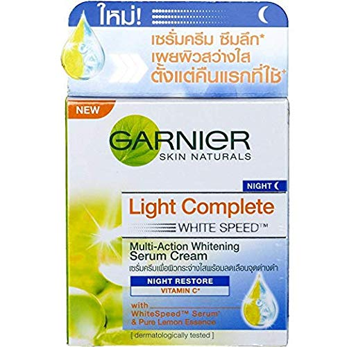 - Garnier Skin Naturals Light Overnight Whitening Peeling Night Cream (50ml)