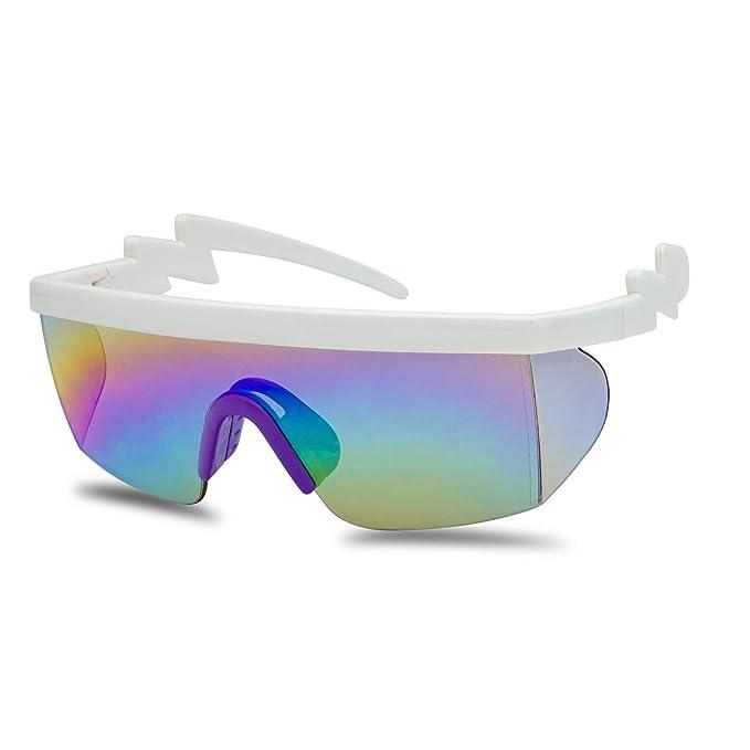 Amazon.com: SunglassUP - Gafas de sol semi sin montura de ...