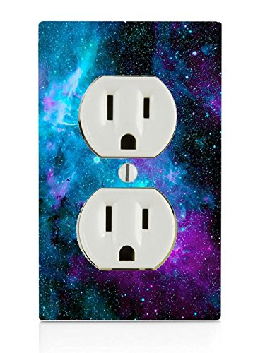 Trendy Accessories Nebula Galaxy Space Design Pattern Print Image Electrical Outlet Plate Cover (NOT A Decal) Actual…