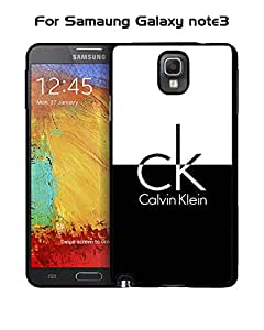 Galaxy Note 3 Funda Case Brand Logo CK-- Calvin Klein Unique Pattern Tough Snap On Extra Thin Vintage Compatible with Samsung Galaxy Note 3
