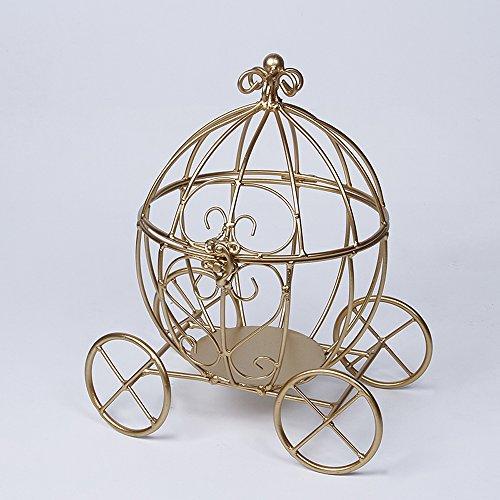Cinderella Gold Carriage (Quinceanera Table Centerpieces Ideas)