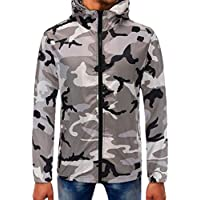 Clearance Sale ! Hooded Sweatshirt Mens Camouflage Hoodie Tops Jacket Coat Outwear