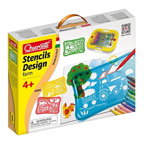 Quercetti Stencil Design Farm Play Set