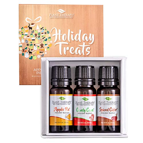 Plant Therapy Essential Oil | Holiday Treats Blends Boxed Gift Set | 100% Pure, Undiluted, Natural Aromatherapy, Therapeutic Grade | 10 milliliter (⅓ ounce)