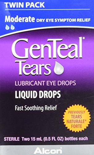GenTeal Tears Lubricant Eye Drops, Moderate Liquid Drops, Twin Pack, 15-mL Each ()