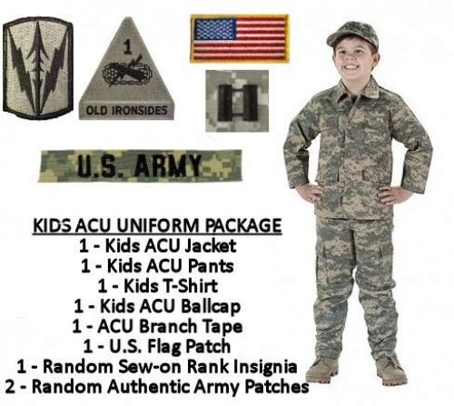 Kids Standard Military Uniform Package - ACU Digital - Small (8)