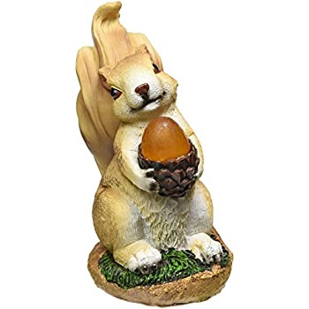 Eastwind Gifts 10016219 Squirrel Solar Garden Statue
