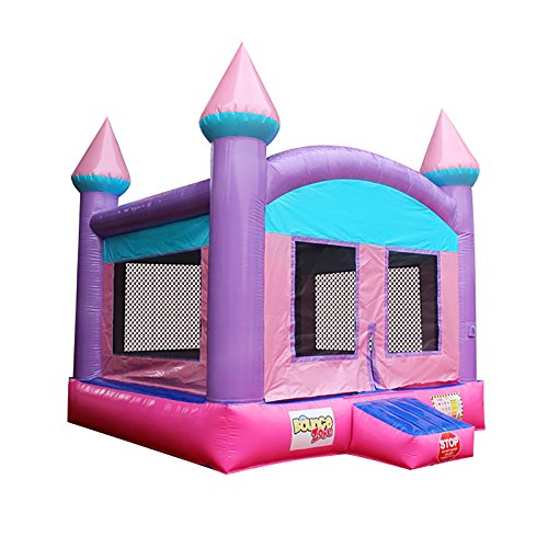 Bounce Zone Inflatable Commercial Grade Bounce House Sparking Princess 100% PVC With Blower