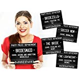 40 Variations of Fun Bachelorette Party Mugshots! Game and Activity instructions included! These Photobooth Prop mugshots are also a great idea for Birthdays, Girls Night Out, Stagettes, NYE, Hen Parties, Gift,Party supplies!