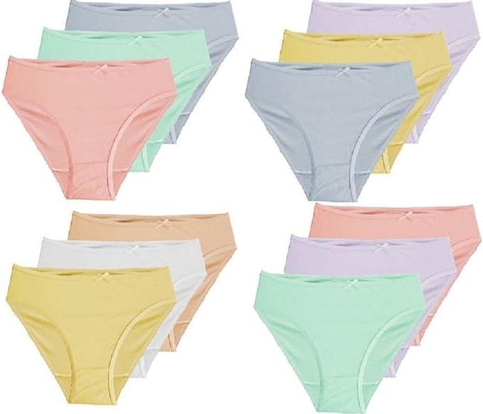 Marcie & Grace - Pack de 5 bragas para niñas y adolescentes (100% algodón, 14 a 16 años): Amazon.es: Ropa y accesorios