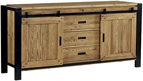 Lugano Industrial Sideboard House Cabinet Sliding Door Amazon Co Uk Kitchen Home