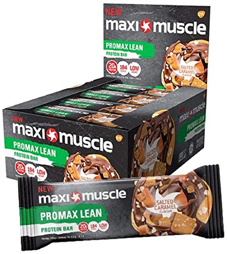 Maximuscle Promax Lean High Protein Bar, Chocolate Salted Caramel, 55 g, Pack of 12