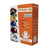 Perfect Curve Cap Rack Pro System - Baseball Cap Organizer, Holds 30 Caps, White