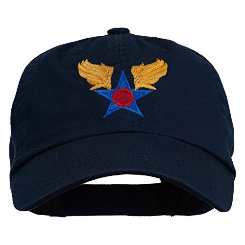 e4Hats.com Army Air Corps Military Embroidered Washed Cap - Navy OSFM