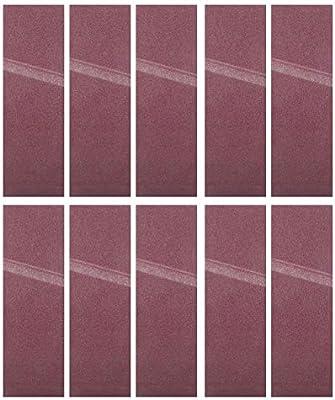 10pcs 533x75mm Ceinture de pon/çage 21x3 pouces Bande abrasive pour ponceuse /à bande 40-180 grains 120#
