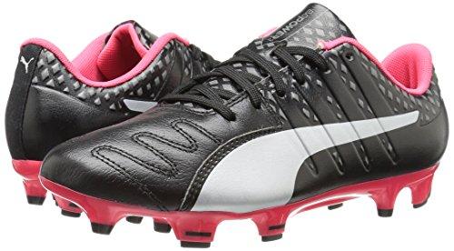 Scarpe da calcio Evopower Vigor 3 Lth FG da uomo, Puma Black / Puma Silver / Shade Shade / Bright Plasma, 8 M US