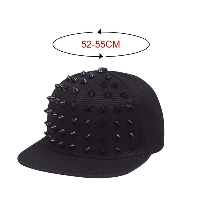 Gorro De Cuerno Negro Plano sobre El Sombrero Hip Hop Marea