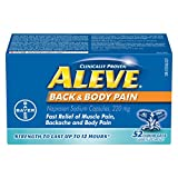 ALEVE Back and Body Pain Relief Liquid Gels, Up to 12 Hour Relief, Naproxen Sodium 220mg, 52 Liquid Gel Capsules