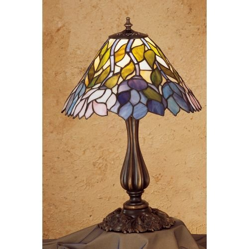 Wisteria Torchiere (1-Light 21 in. Wisteria Accent Lamp)