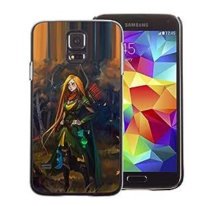 Suave TPU GEL Carcasa Funda Silicona Blando Estuche Caso de protección (para) Samsung Galaxy S5 / CECELL Phone case / / redhead hero woman adventure kids /