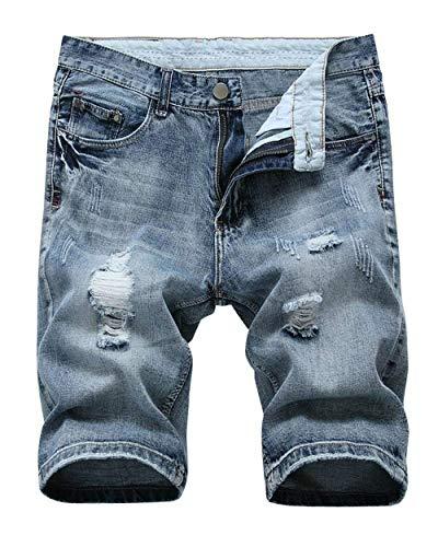 De Vaqueros Verano Cortos Style Casuales Casuales Shorts Cómodos Tamaños La del Rasgados Cortos Hole Blaugrau Ropa Jeans Nge RT Retro Moda Pantalones Pantalones Ajustados TZwxzqd11