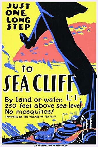 WholesaleSarong Sea Cliff Vintage Travel ads Posters Home Decor Artwork Prints