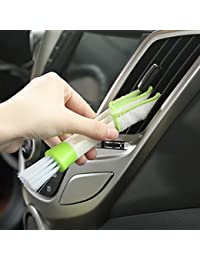 Take 1 Piece Multifunction double slider car air conditioning outlet clean brush window blinds keyboard cleaner brush... online